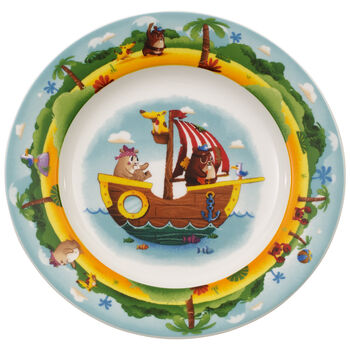Assiette plate pour enfant Chewy's Treasure Hunt