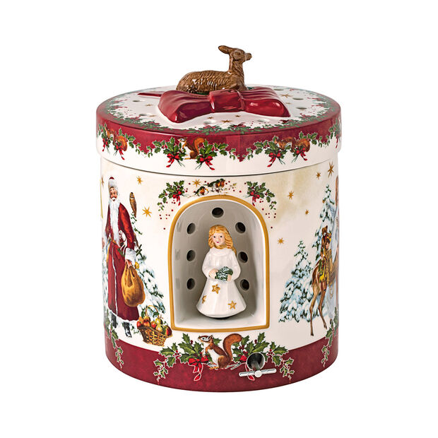 Christmas Toys grote ronde cadeauverpakking kerstkind, 17 x 17 x 21,5 cm, , large