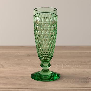 Boston Coloured champagneglas green