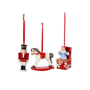 Nostalgic Ornaments Ornamenten speelgoed, set 3-delg 9,5cm