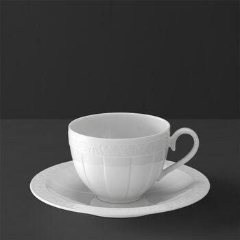 White Pearl Koffiekop en -schotel