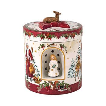 Christmas Toy's grand paquet-cadeau carré, enfant Jésus, 17x17x21,5cm