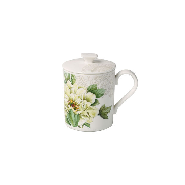 Quinsai Garden Gifts mug à café avec couvercle 11,5x8,5x11cm, , large