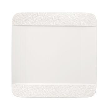 Manufacture Rock Blanc rechthoekig eetbord, wit, 28 x 28 x 2 cm