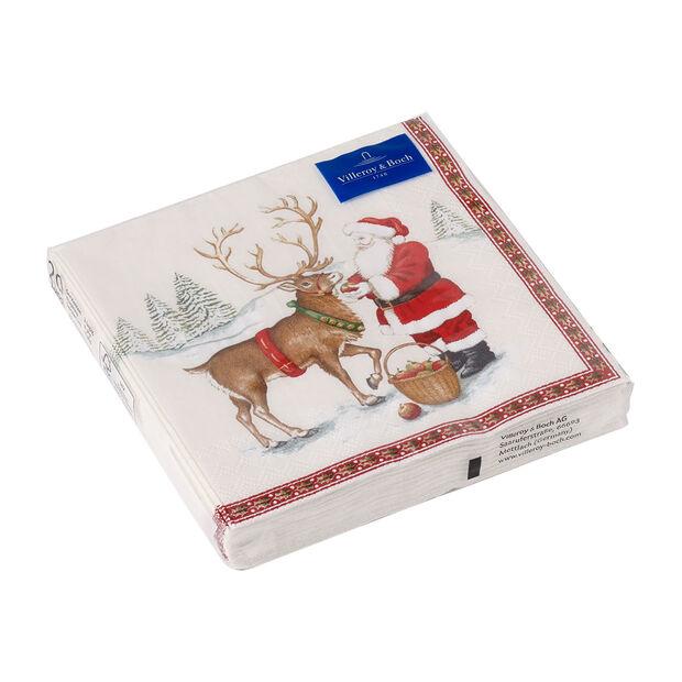 Winter Specials serviette de table renne, marron/multicolore, 20pièces, 33x33cm, , large