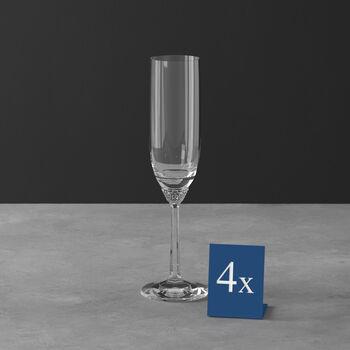 Octavie flûte à champagne, 4pièces