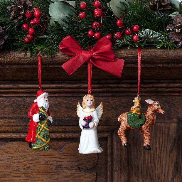 Nostalgic Ornaments ensemble d'ornements Père Noël/enfant Jésus/faon, 8x4cm, 3pièces, , large