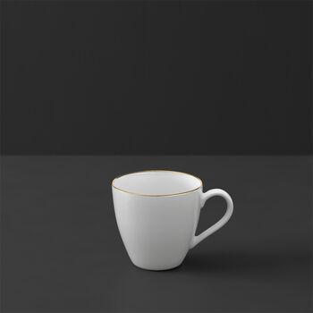 Anmut Gold mokka- en espressokopje, 100 ml, wit/goud