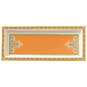 Samarkand Mandarin coupe rectangulaire 25x10cm