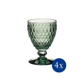 Boston Coloured witte wijnglas, 4 stuks, groen