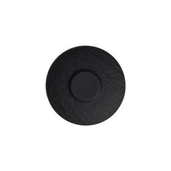 Manufacture Rock espresso-schotel, zwart/grijs, 12 x 12 x 2 cm