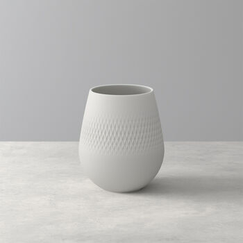 Manufacture Collier blanc Vase Carré petit 12,5x12,5x14cm
