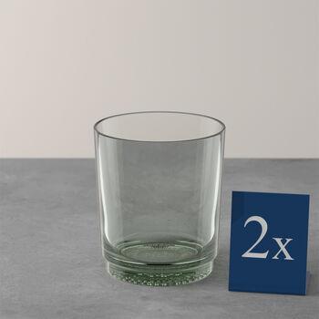 like.by Villeroy & Boch it's my match waterglas-set mineral, groen, 9 x 10 cm, 2-delig