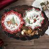 Toy's Fantasy assiette à pâtisserie creuse promenade en traîneau, multicolore/rouge/blanc, 39x39x3,5cm, , large