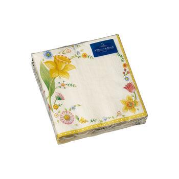 Spring Fantasy serviettes de tables, fleurs de Pâques, 25x25cm, 20pièces