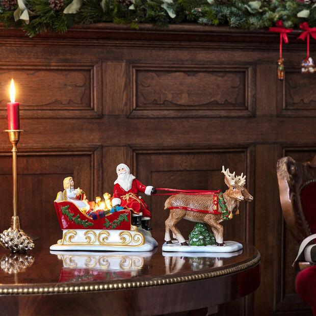Christmas Toys traîneau, rétro, 36x14x17cm, , large
