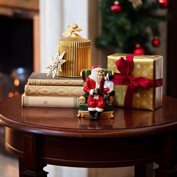 Christmas Toy's Père Noël sur son fauteuil, multicolore, 10x10x15cm, , large
