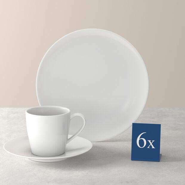 Voice Basic koffie-set, wit, 18-delig, , large