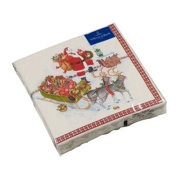 Winter Specials lunch-servet Kerstman, gekleurd, 20 stuks, 33 x 33 cm