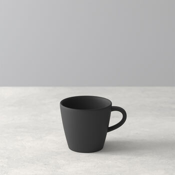 Manufacture Rock tasse à expresso, noire/grise, 8,5x6,5x6cm