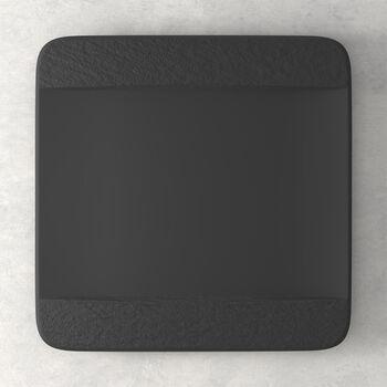 Manufacture Rock assiette plate carrée, noire/grise, 28x28x2cm