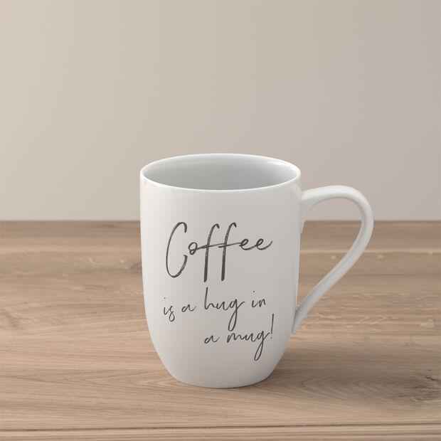 "Statement beker ""Coffee is a hug in a mug"", , large"