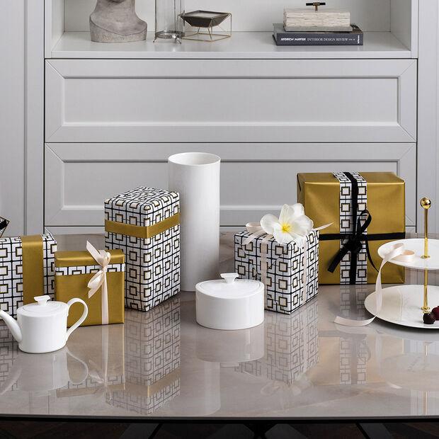 MetroChic blanc Gifts Vaas lang 13x13x30,5cm, , large