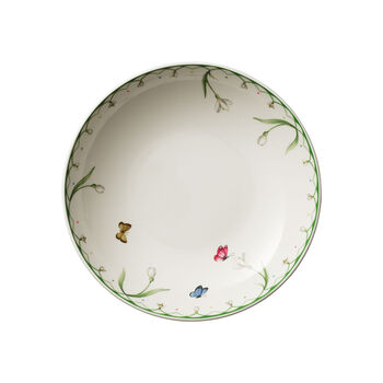 Colourful Spring platte schaal, 1,1 l, wit/groen