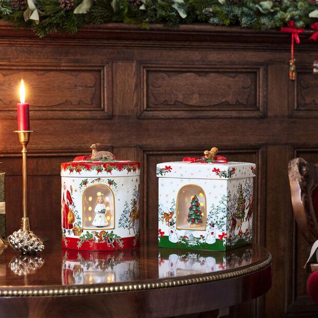 Christmas Toy's grand paquet-cadeau carré, enfant Jésus, 17x17x21,5cm, , large