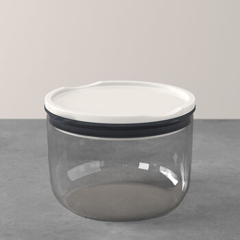ToGo&ToStay lunchbox, 13x9,5 cm, rond, grijs