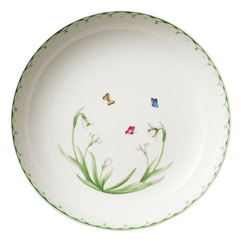 Colourful Spring grote saladeschaal, 5,2 l, wit/groen