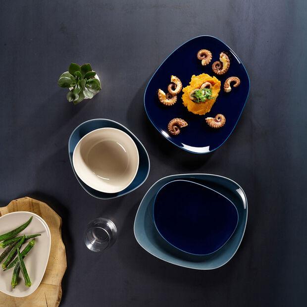 Organic Dark Blue Dinerbord 28 x 24 x 3cm, , large