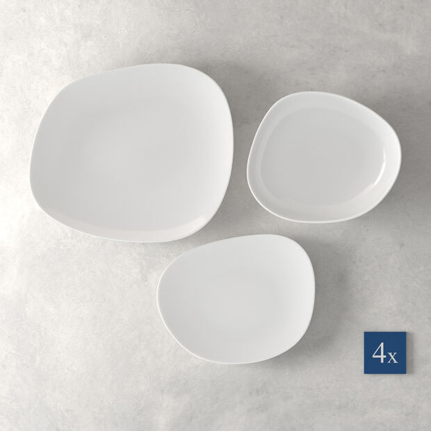 Organic White Starter Set bord 12-delig, , large