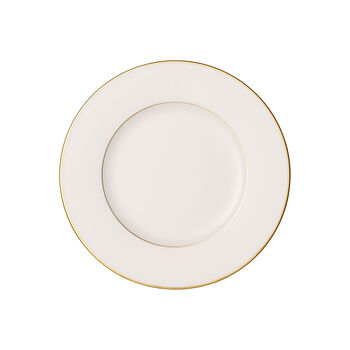 Anmut Gold ontbijtbord, diameter 22 cm, wit/goud
