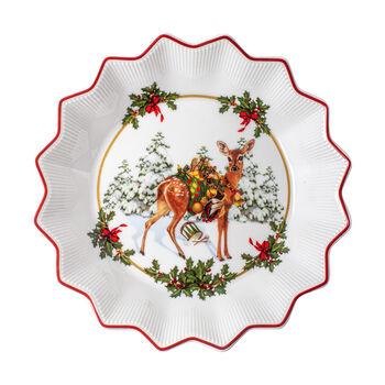 Toy's Fantasy petite coupe faon avec cadeaux, multicolore/rouge/blanc, 16,5x16,5x3cm