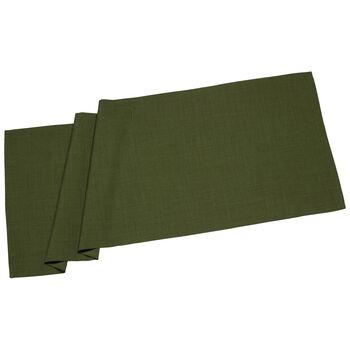 Textil Uni TREND Runner donkergroen 50x140cm