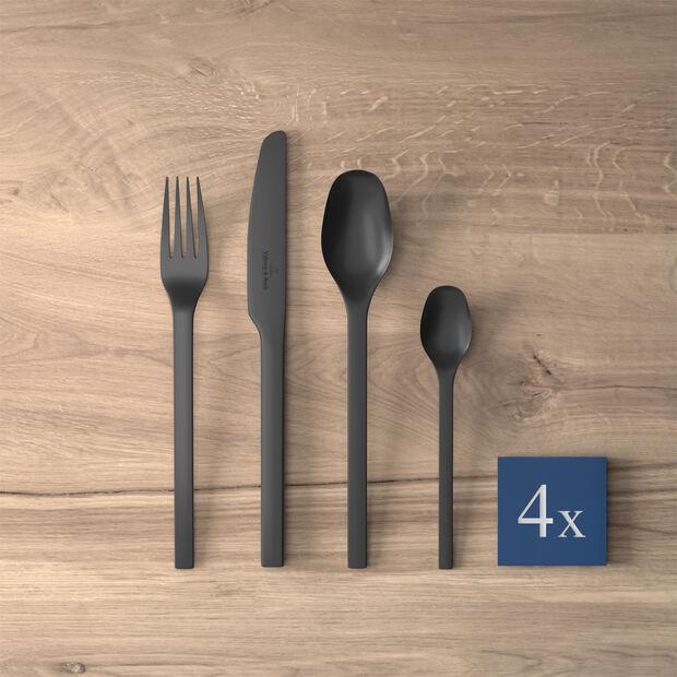 Manufacture Rock couverts de table, pour 4personnes, 16pièces, noirs, , large