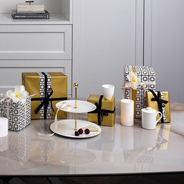 MetroChic blanc Gifts Mug avec couvercle 11,5x8,5x11cm, , large