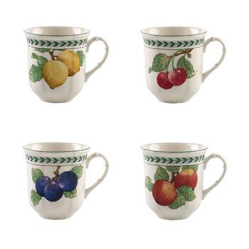 French Garden Modern Fruits jumbo-beker set van 4
