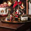 Christmas Toy's Kerstman op stoel, gekleurd, 10 x 10 x 15 cm, , large