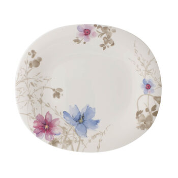 Mariefleur Gris Basic assiette plate ovale