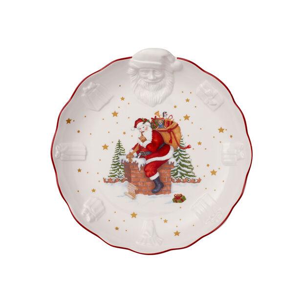 Toy's Fantasy coupe avec Père Noël en relief, blanche/multicolore, 24x25x4,6cm, , large