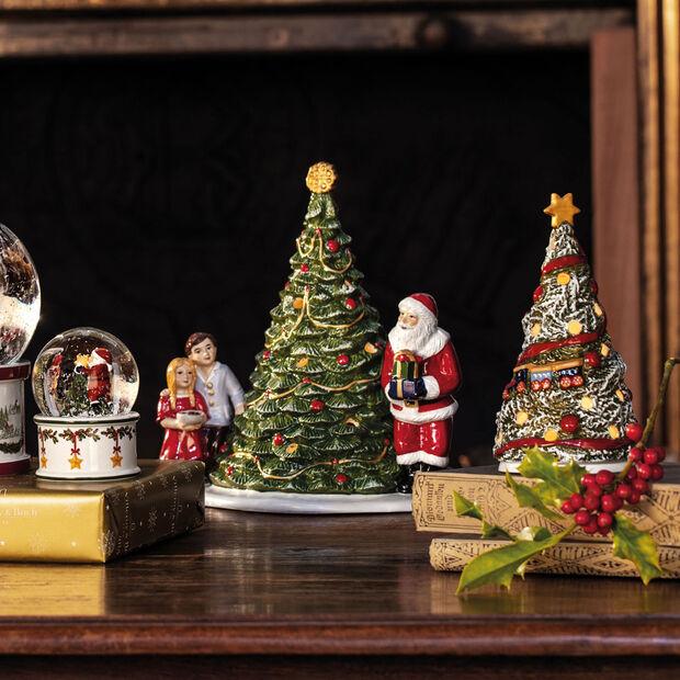Christmas Toy's Kerstman bij boom, groen/gekleurd, 20 x 17 x 23 cm, , large