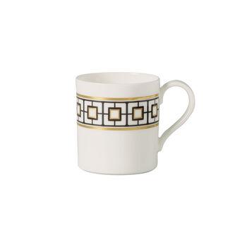 MetroChic tasse à café, 210ml, blanc-noir-or