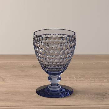 Boston Coloured witte-wijnglas blue