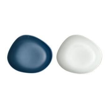 like. by Villeroy & Boch Organic diep bord, 2 stuks, turquoise/wit