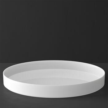MetroChic blanc Gifts Serveer/Deco schaal 33x33x4cm