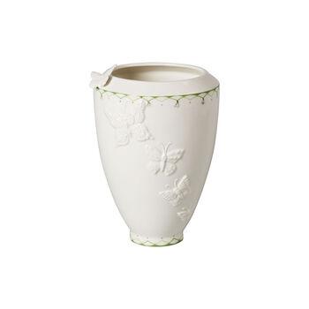 Colourful Spring hoge vaas, wit/groen