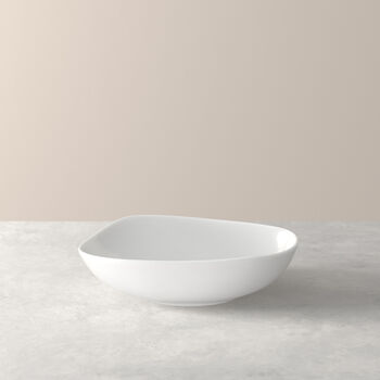 Organic White Diep bord 20 x 18 x 5,5cm