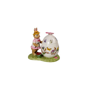 Bunny Tales boîte en forme d'œuf de Pâques Anna, 11x6,5x10cm, multicolore